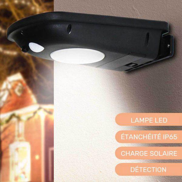 lampe led détecteur de mouvement solaire extérieur