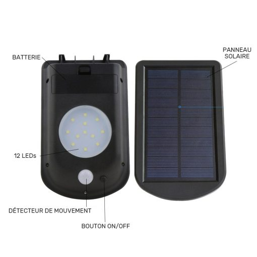 lampe led détecteur de mouvement solaire terrasse