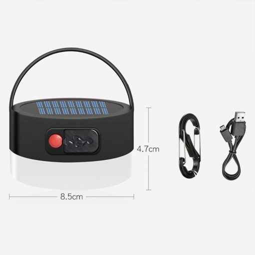 lampe led solaire camping dimensions