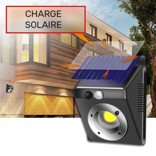Lampe led solaire murale détecteur de mouvement