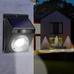 Lampe led solaire murale extérieur