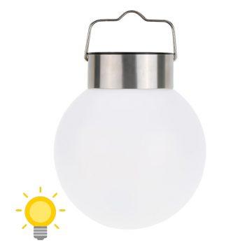 lampe solaire boule blanche