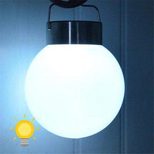 lampe solaire boule blanche extérieur