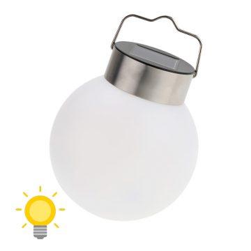 lampe solaire boule blanche led