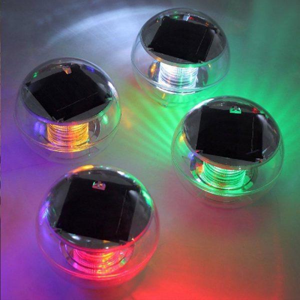 lampe solaire flottant couleur