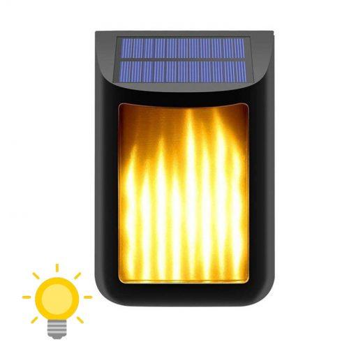 lampe solaire lumière jaune