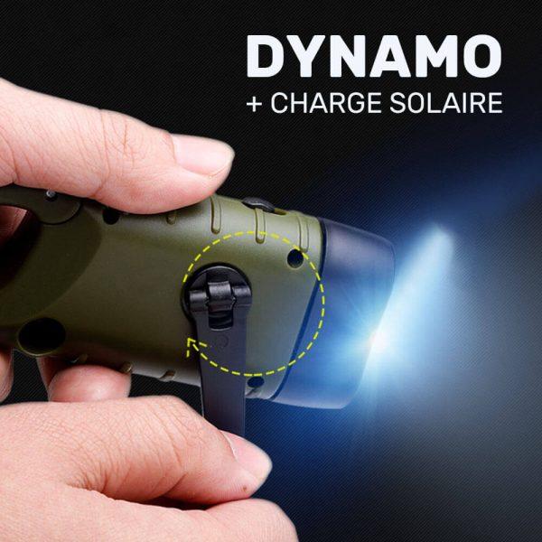 lampe torche solaire et dynamo camping