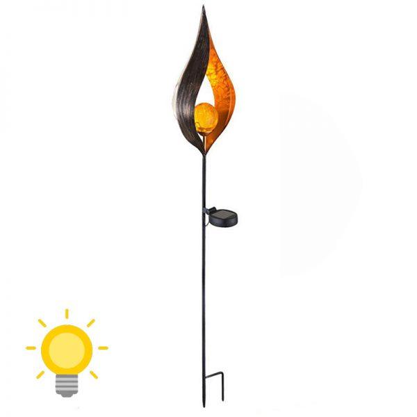 lampe torche solaire flamme