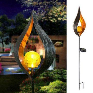 lampe torche solaire flamme exterieur