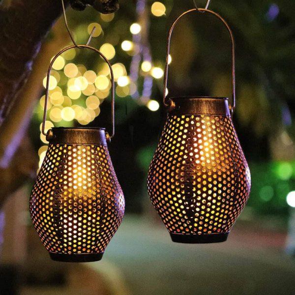 lanterne fer solaire extérieur