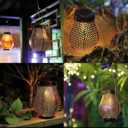lanterne fer solaire jardin