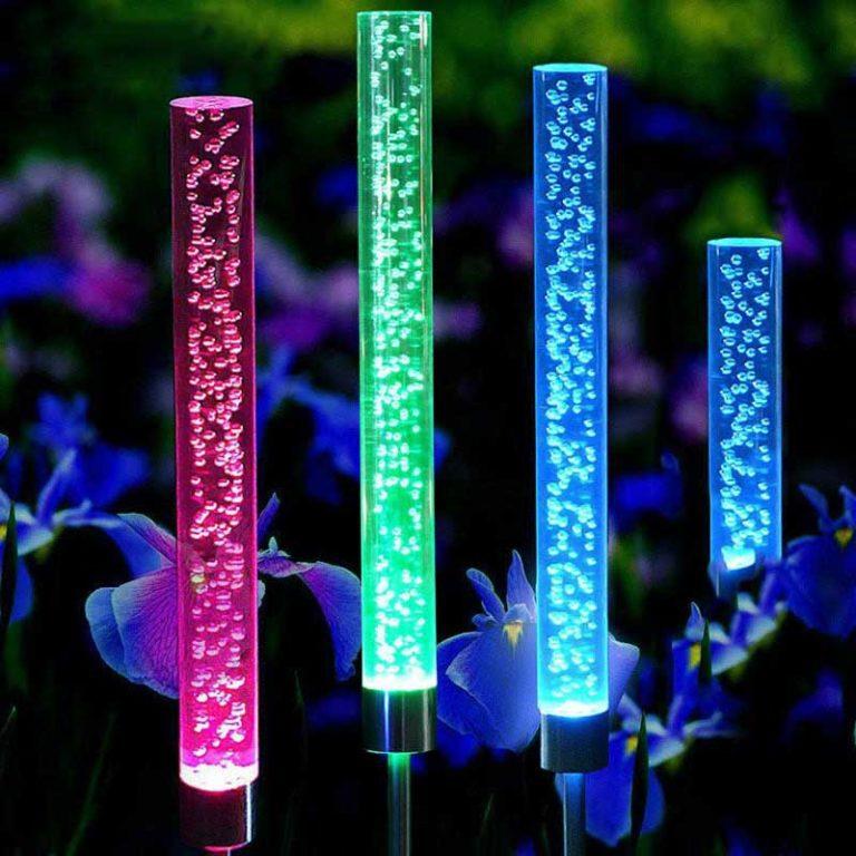 neon solaire exterieur jardin brille