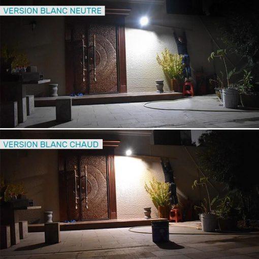 projecteur led solaire télécommande puissant