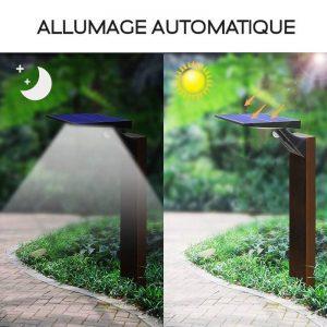 projecteur solaire a led DÉTECTEUR