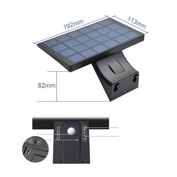 projecteur solaire a led extérieur