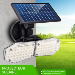 projecteur solaire sans fil LED