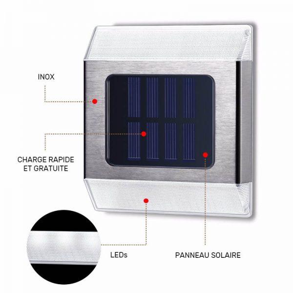spot solaire escalier LED