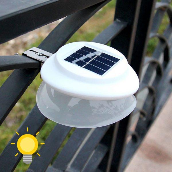 spot solaire gouttière extérieur