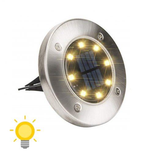 spots solaires led ronds encastrables
