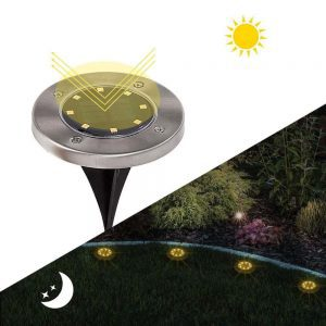spots solaires led ronds encastrables terrasse