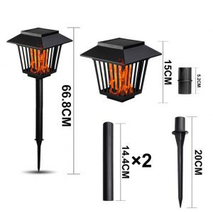 torche solaire 96 led dimensions
