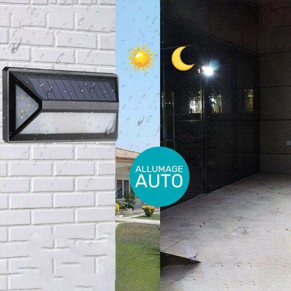 Applique extérieur solaire détecteur mouvement murale