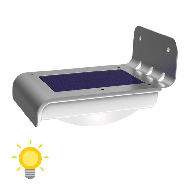 Eclairage extérieur solaire mural avec detecteur de mouvement