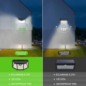 applique murale exterieur solaire detecteur de mouvement terrasse