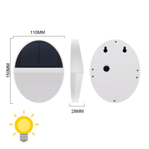 applique solaire ronde dimensions