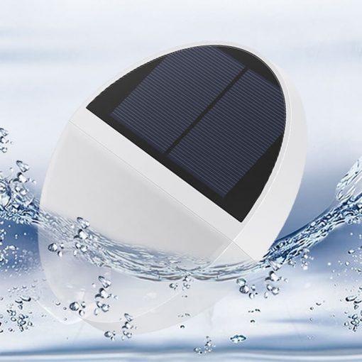 applique solaire ronde etanche