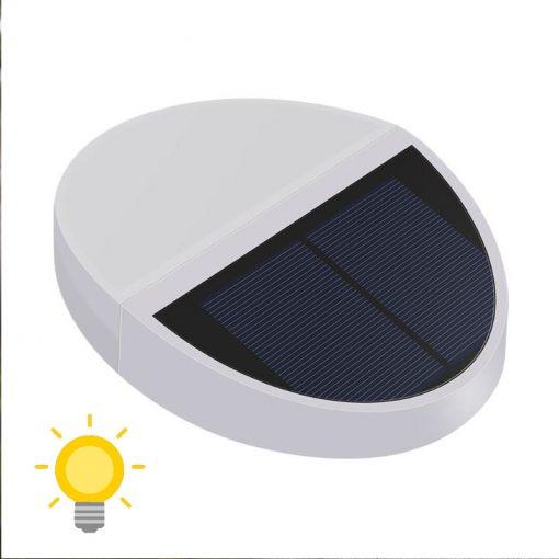 applique solaire ronde extérieur