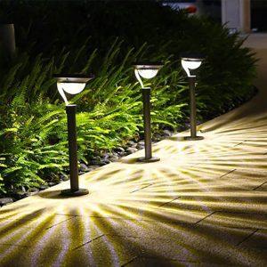 borne solaire extérieur sur pied terrasse