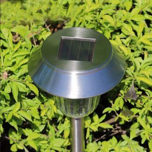 borne solaire jardin led inox