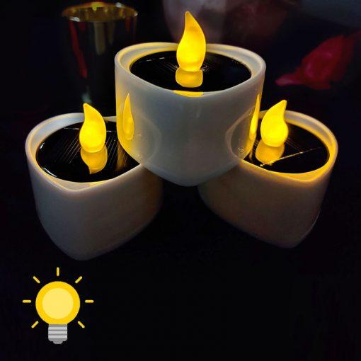 bougie solaire de table etanche
