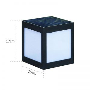cube lumineux solaire dimensions