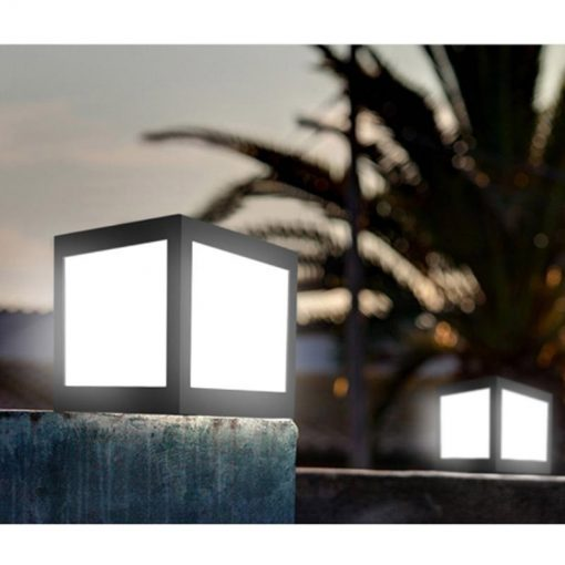 cube lumineux solaire jardin