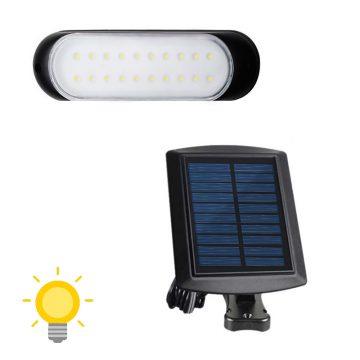 eclairage solaire avec panneau deporté