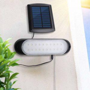eclairage solaire avec panneau deporté exterieur