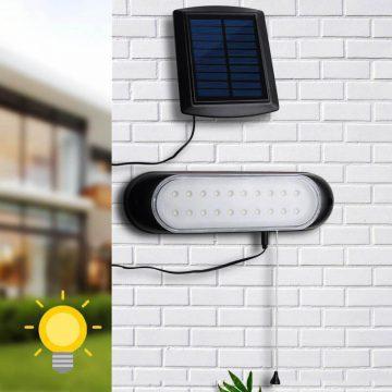 eclairage solaire avec panneau deporté led