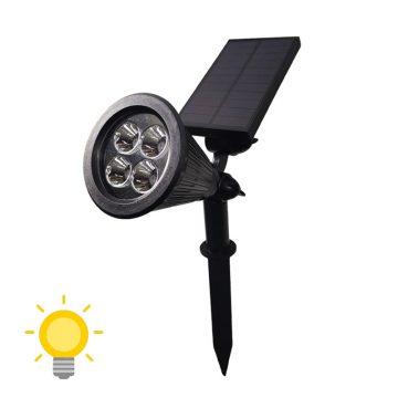 éclairage spot solaire jardin