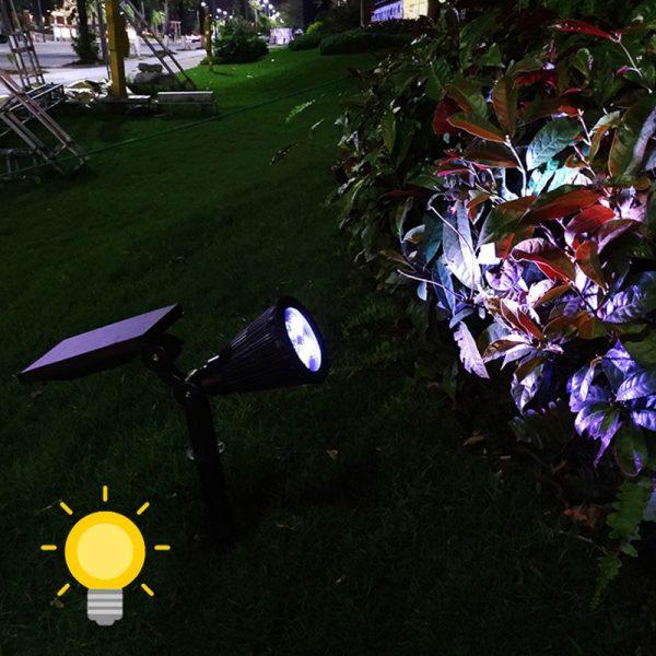 eclairage spot solaire jardin exterieur