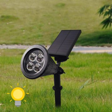 eclairage spot solaire jardin led