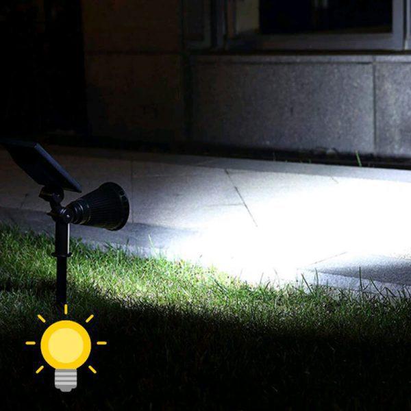 eclairage spot solaire jardin puissant