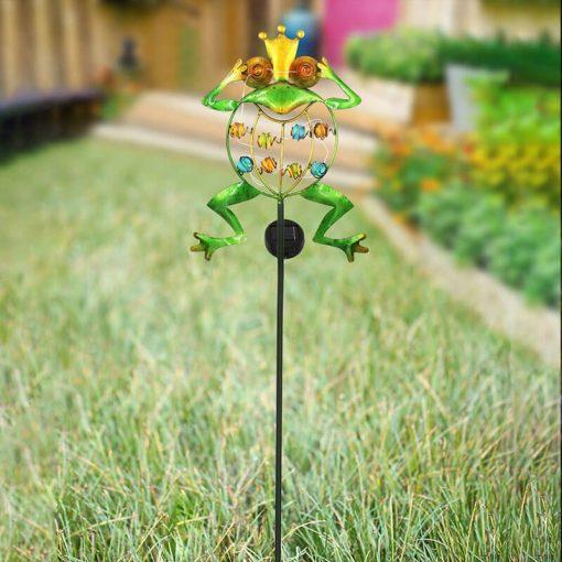 grenouille solaire exterieur jardin