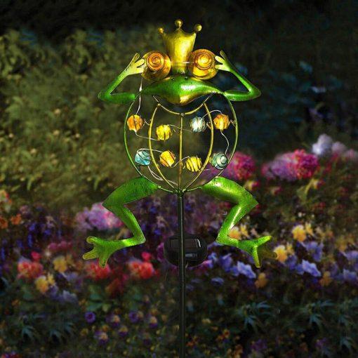 grenouille solaire exterieur led jardin