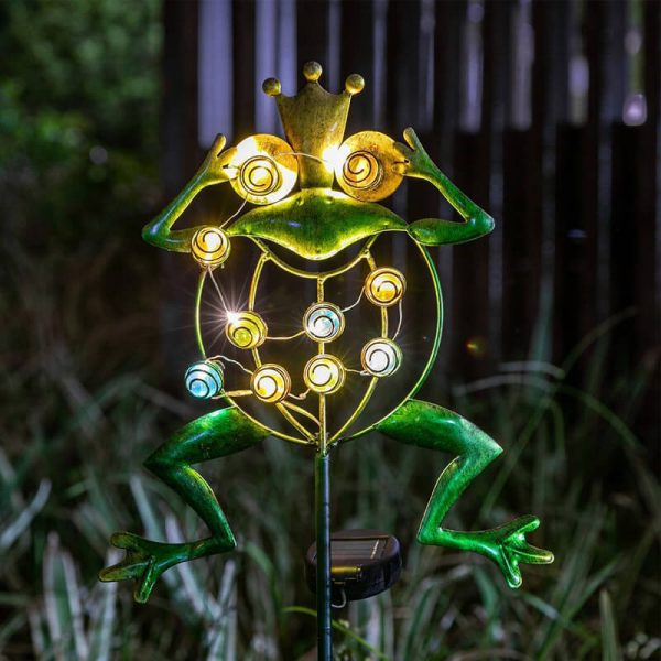 grenouille solaire exterieur lumineuse