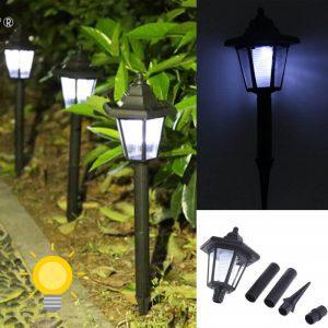 lampe borne solaire exterieur
