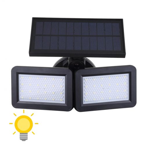 lampe double projecteur solaire orientable