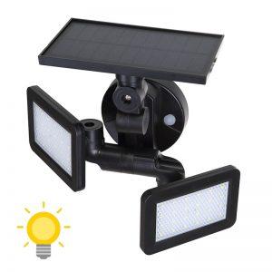 lampe double projecteur solaire orientable avec détecteur de mouvement