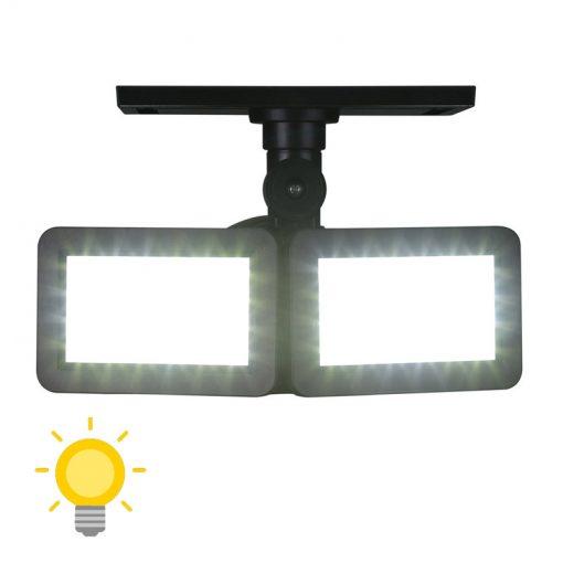 lampe double projecteur solaire orientable led